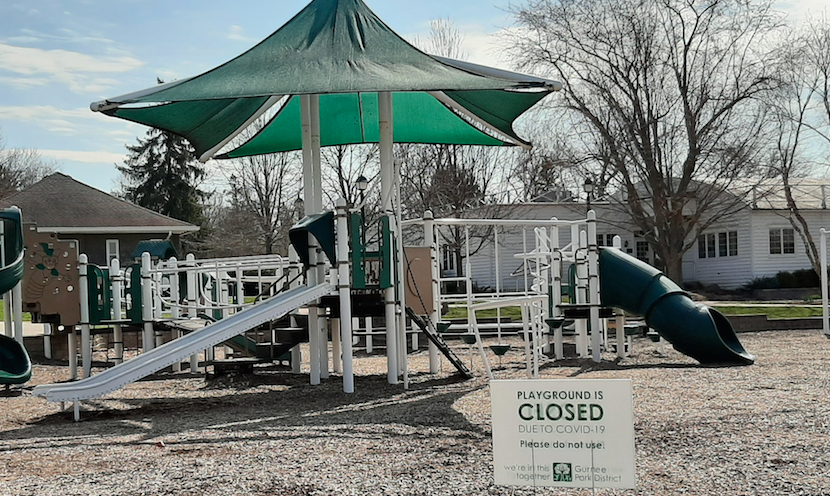 Viking Park Playground is closed, but the paths and trails remain open to those practicing social distancing.