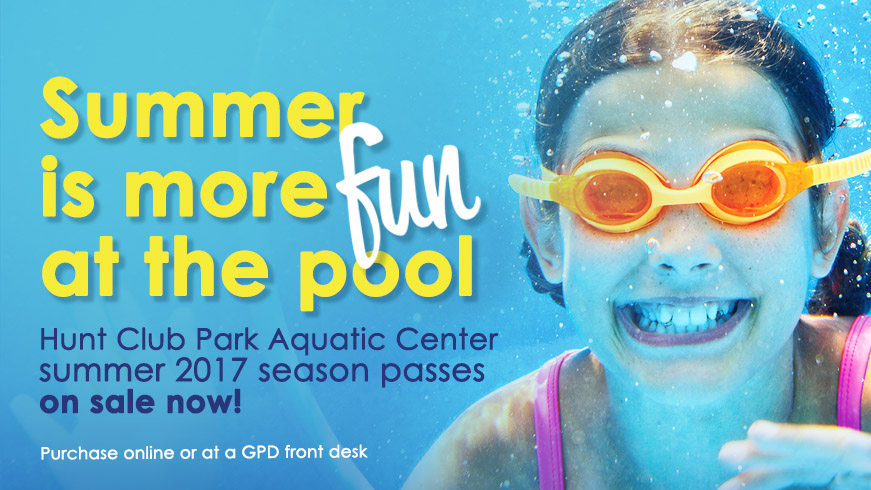 Purchase your pool passes today online or at the GPD front desk