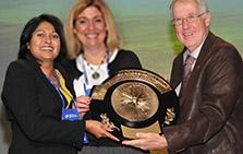 Gold medal winner acceptance