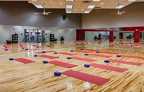 Yoga studio at FitNation Gurnee on Nations Drive
