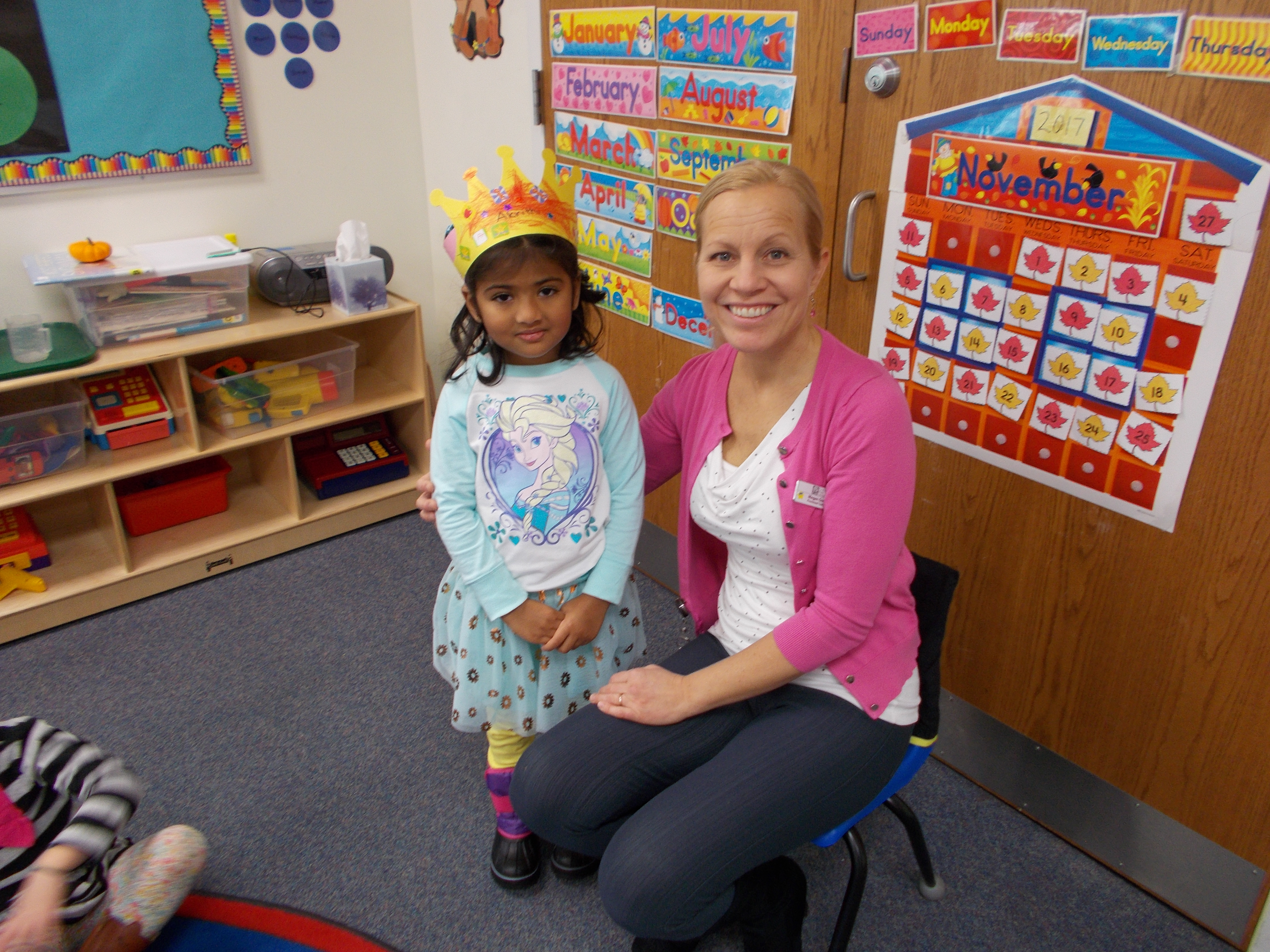 Growing Tree Preschool student with Ms. Megan.